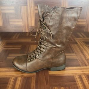 FOREVER LEGEND-15 Lace Up Combat Military Boots